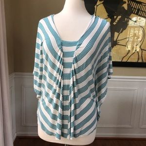 Ella Moss Anthropologie Sarense Flutter Sleeve Top